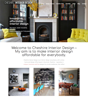 Responsive website design for Cheshire Interior Design