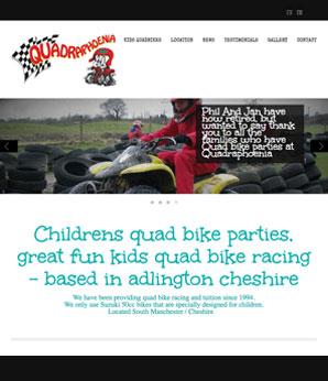 design for quad bike website