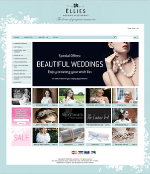 eCommerce website for wedding accessories