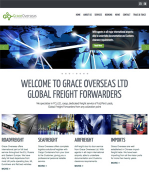 grace overseas shipping website design