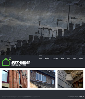 Websitedsign for GreenRidge Roofing