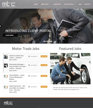 Motor Trade Careers Jobs Website Website Design Stockport