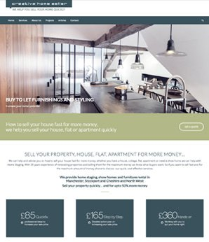 Website design for - Creative home seller