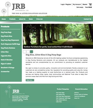 Website design for JRB Enterprise