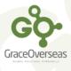 grace overseas id logo design