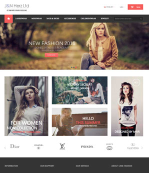 design for high street fashion eCommerce website