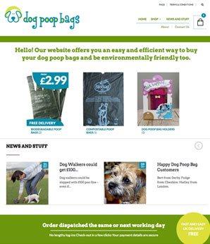 website design dog poop bags eCommerce