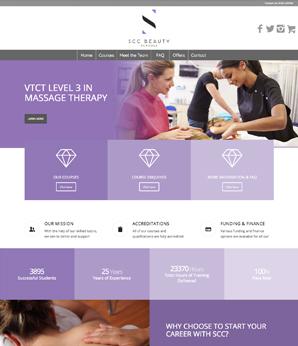 WEBSITE DESIGN SCC BEAUTY SCHOOLS