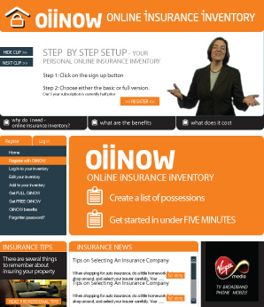 insurance inventory website design
