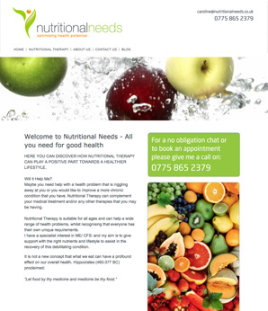 Nutritional Needs - All you need for good health