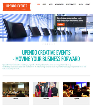 upendo events website design