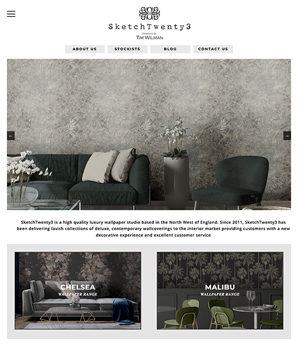 Website design for luxury wallpaper brand
