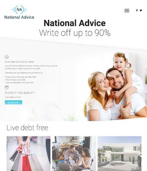 Eebsite design for National Advice