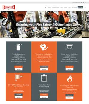 Website for FireQueen Fire Alarms Stockport